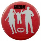 Green Day - 'American Idiot Red' Button Badge